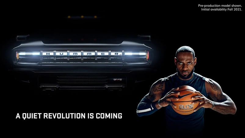 LeBron James helps GMC pitch its Hummer EV in a Super Bowl ad