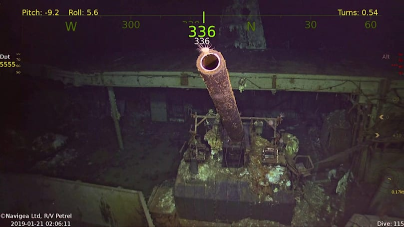 Sonar drone discovers long-lost WWII aircraft carrier USS Hornet