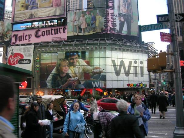 Wii advertisement New York City style