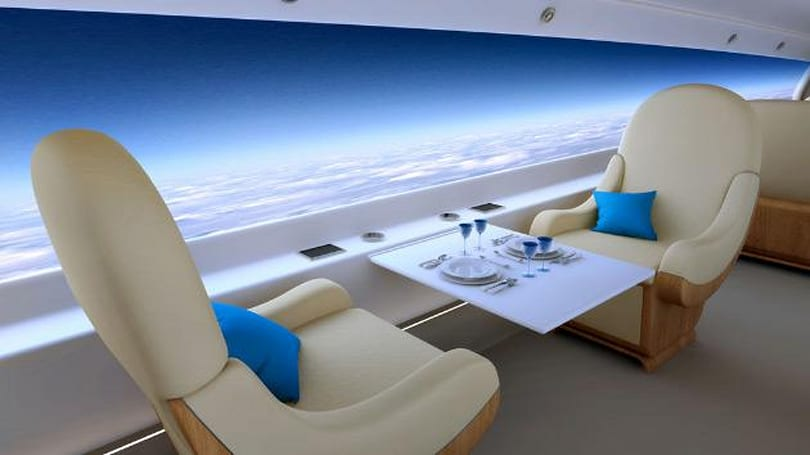 Spike supersonic business jet swaps windows for a wraparound live-view display