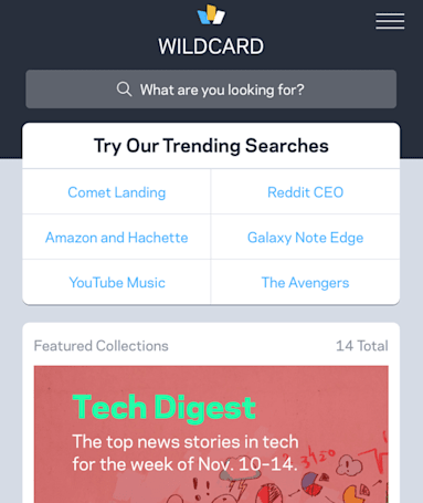 Wildcard uses beautiful card interface for news and shopping