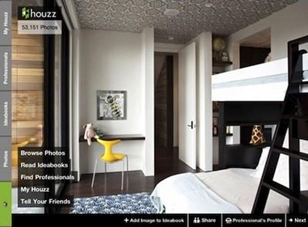 Houzz launches a new iPad app for home design fans