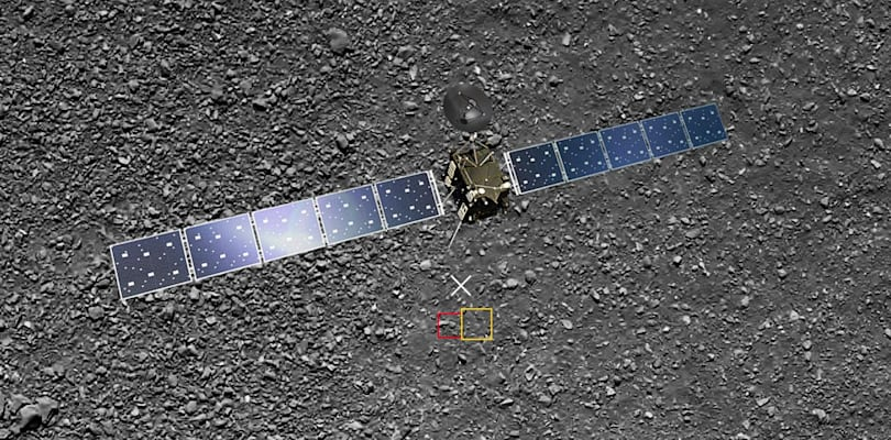 Rosetta probe's last surprise: a photo of its landing site
