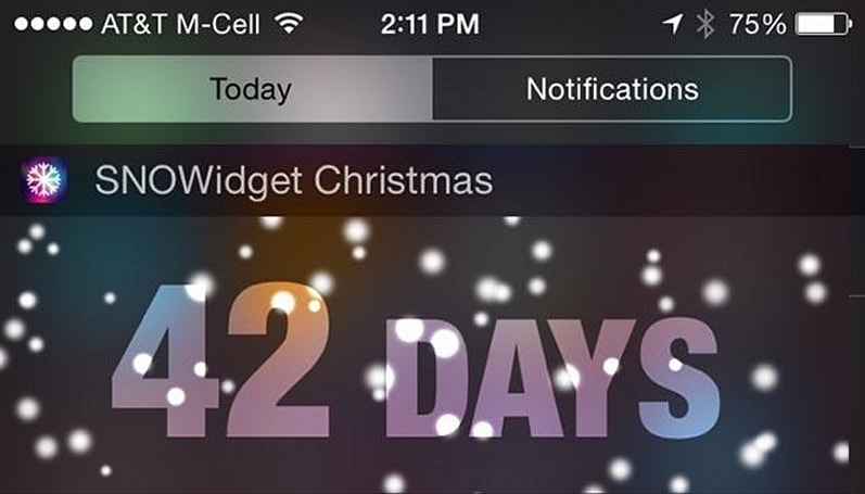 Check out the first holiday widget for iOS
