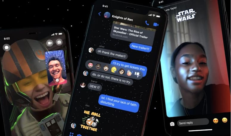 Even Facebook's Messenger is getting in on the Star Wars hype