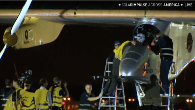 Solar Impulse ends cross-country US flight slightly early in NY due to torn left wing