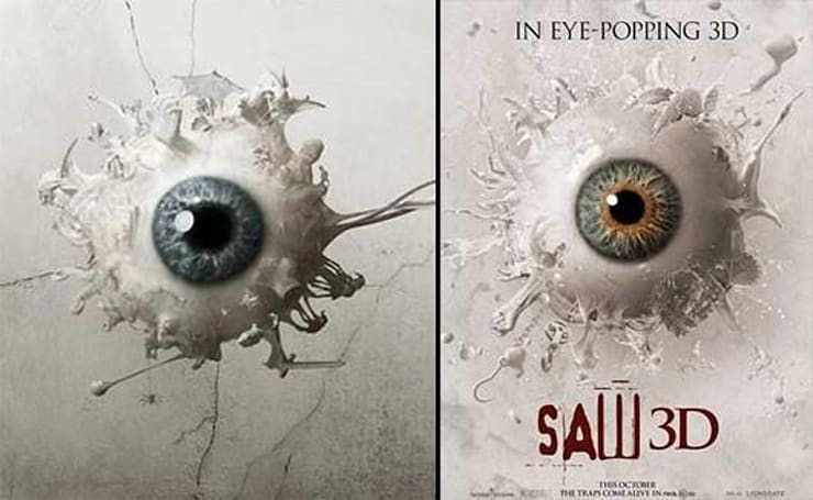 Wow, these Saw 3D advertisements sure look familiar