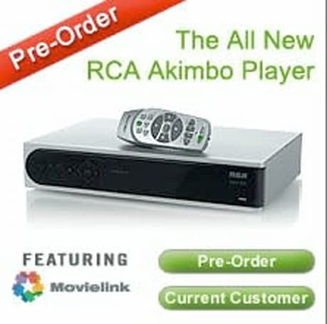 """Akimbo's new RCA box with Movielink available as """"free"""" upgrade"""