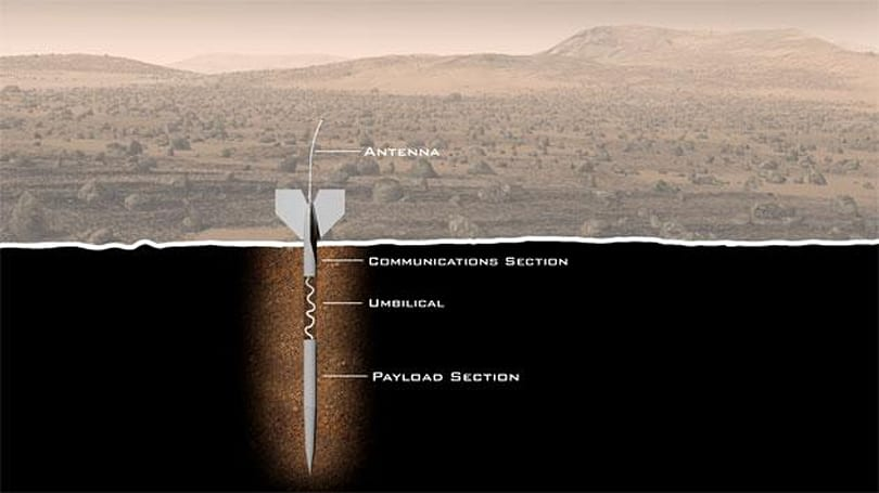 Giant crowdfunded darts will search for life on Mars