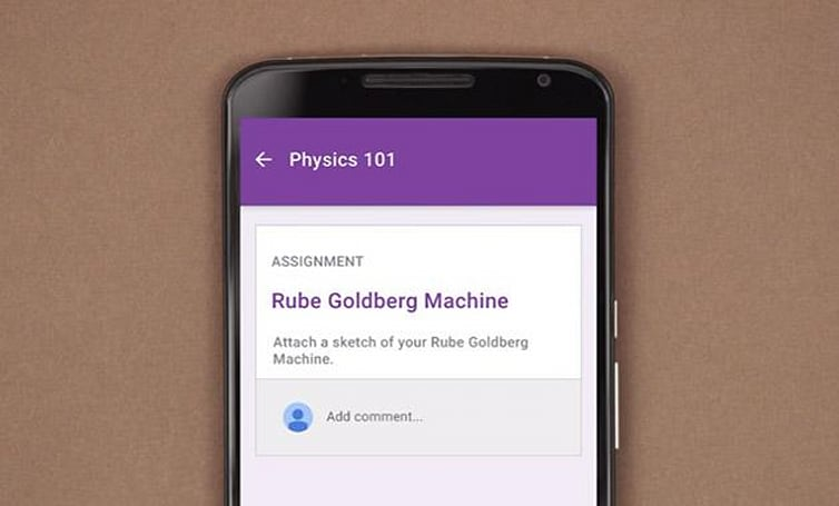 Google's Classroom app lets students submit homework on their phones