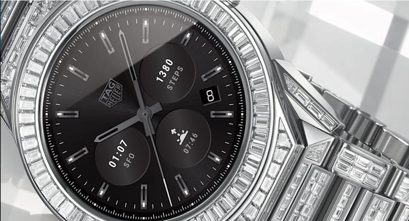 TAG Heuer covered its smartwatch in real diamonds