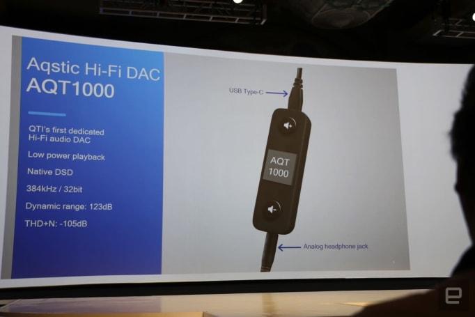 Qualcomm made a USB-C DAC to show off its hi-fi audio tech