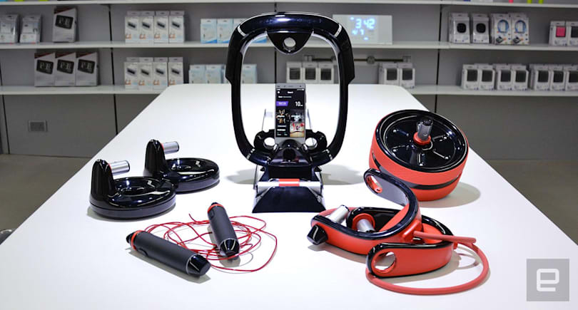 Move It puts a smart mini gym in your room
