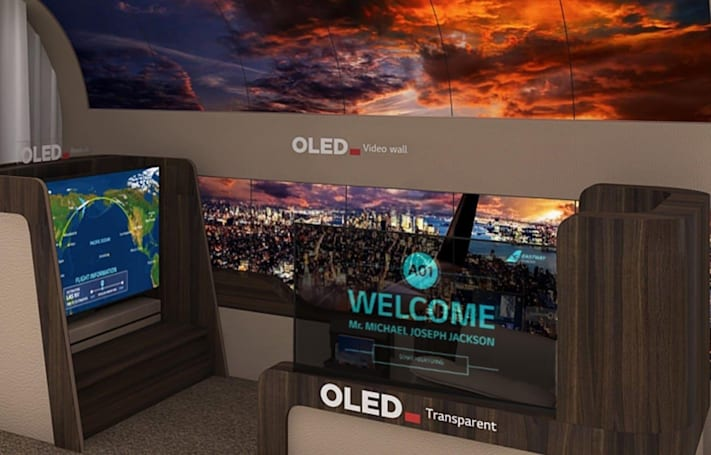 LG's new rollable OLED TV concept unfurls from the ceiling