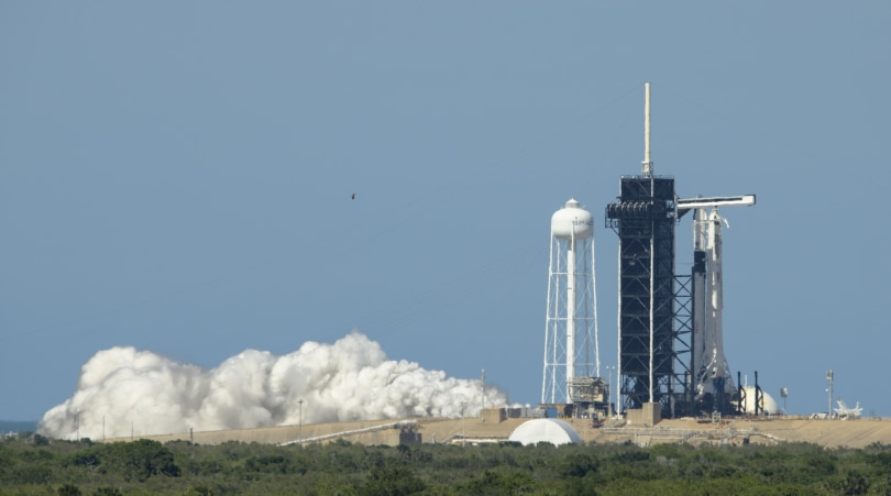SpaceX's first crewed mission to the ISS is scrubbed for today