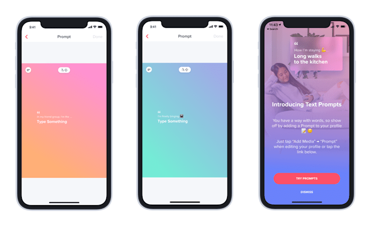 Tinder adds 'prompts' feature to kickstart conversations