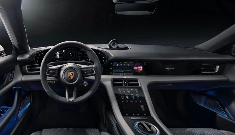 Porsche bakes Apple Podcasts and Apple Music lyrics into its Taycan EV