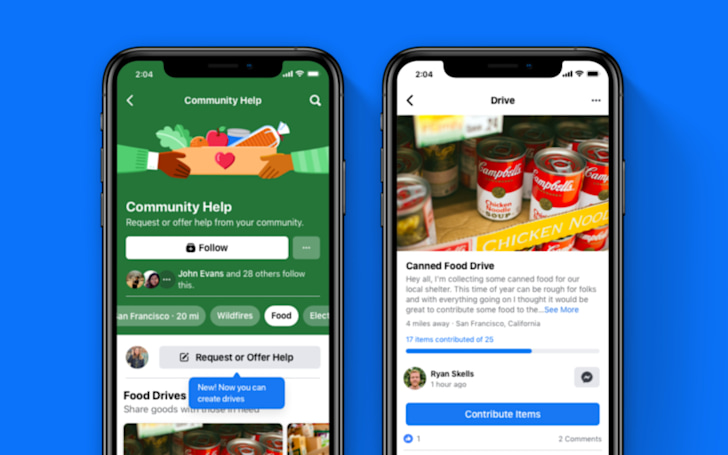 Facebook is making it easier to donate essentials to those in need