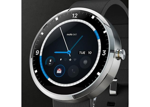 Contest-winning Moto 360 watch face blends classic looks with modern tech