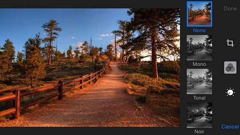 iOS 8 Camera app: Photo filters and editing
