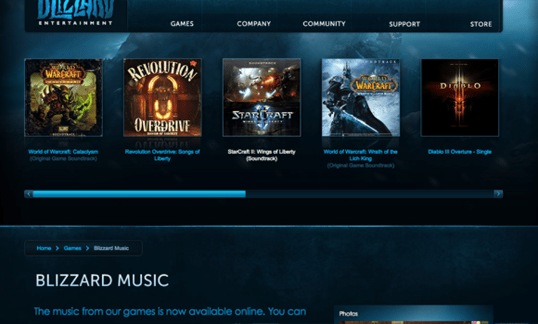 New music section launches on Blizzard community site