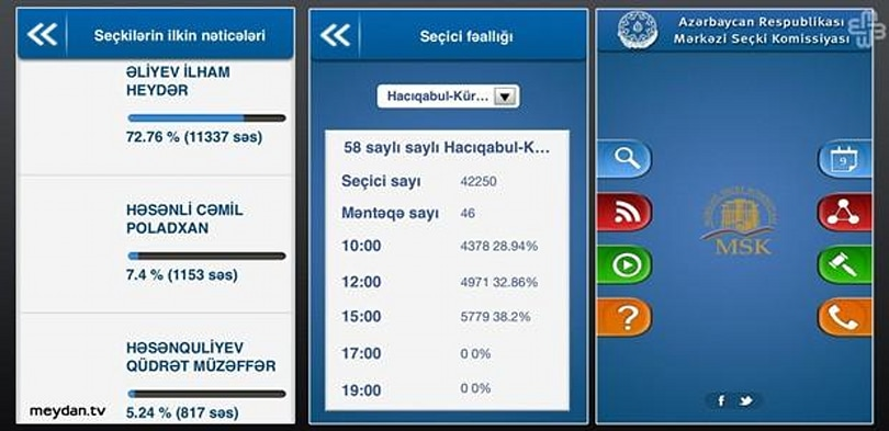 Azerbaijan ballot app purportedly shows results before voting even starts