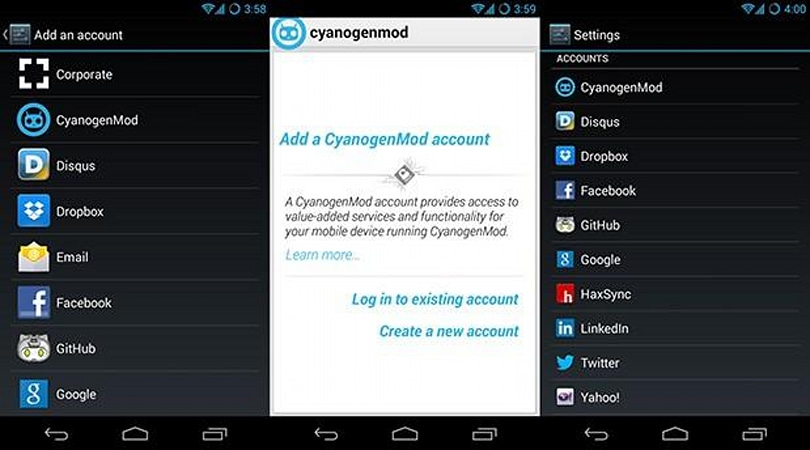 CyanogenMod accounts coming in next nightly builds