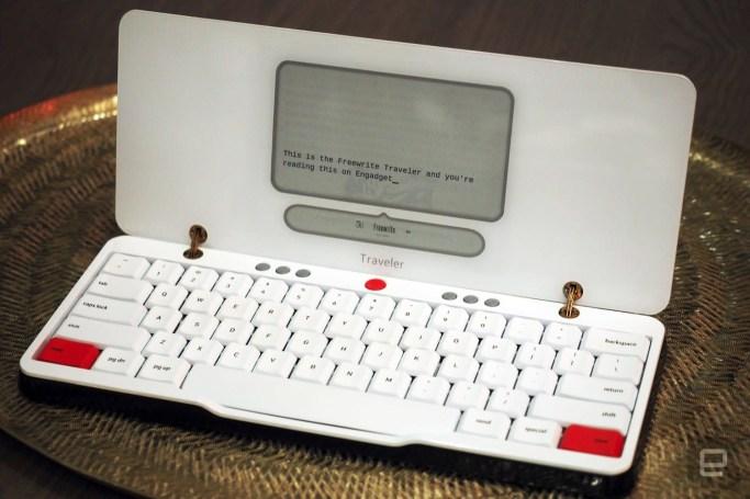 The Freewrite Traveler lets authors battle writer's block outside
