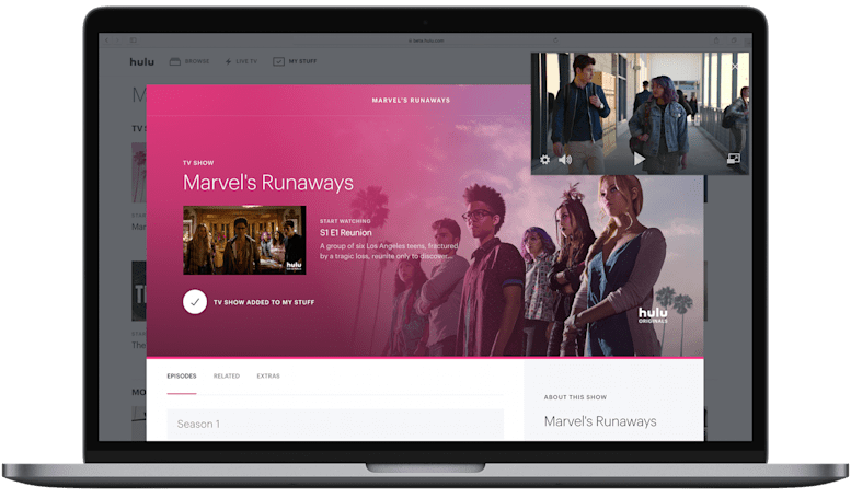 Hulu brings picture-in-picture to its live TV service on the web