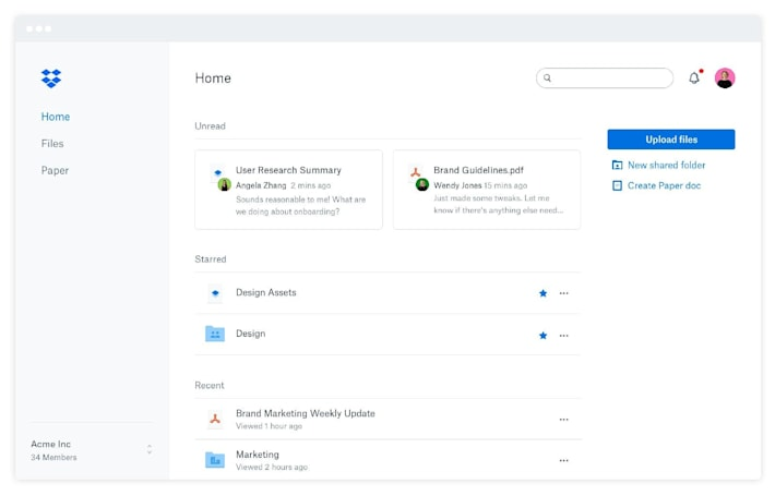 Dropbox adds Extensions for Gmail, WhatsApp, Vimeo and more