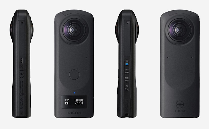Ricoh's Theta Z1 shoots 360-degree RAW images for $999