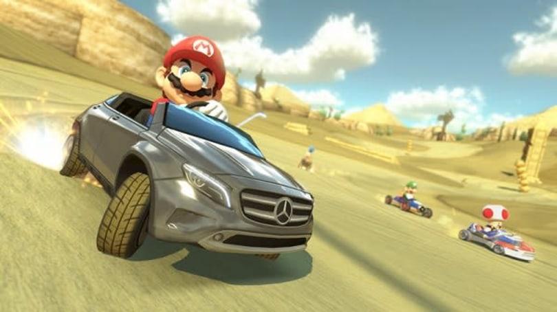 Mario Kart 8 bringing Mercedes DLC to Japan, shocking imagery to all