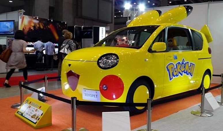 Here in my Pika-car, I feel safest of all from Team Rocket