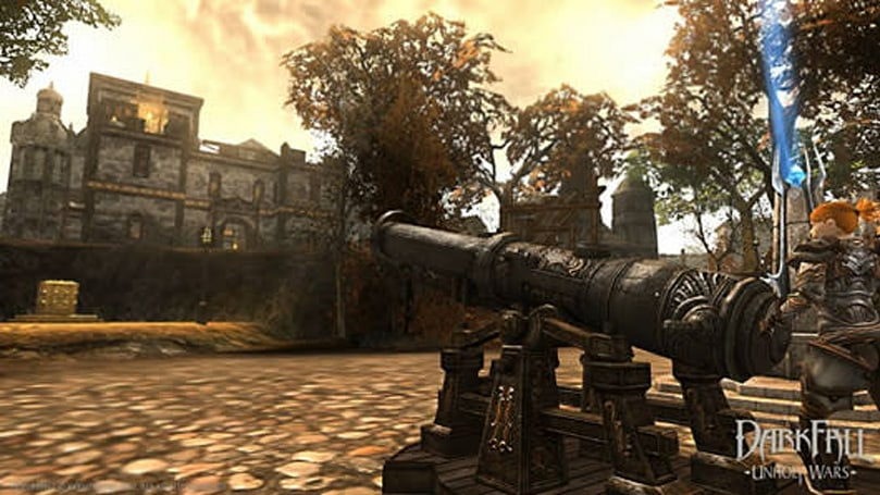 Darkfall gets emotes, chat bubbles, deployable cannons