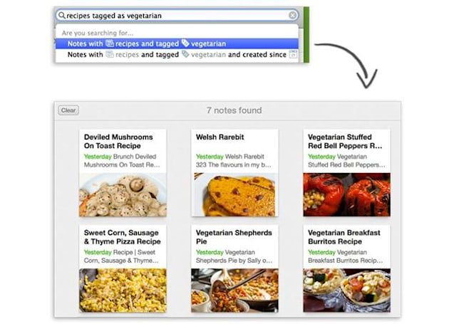 Evernote for Mac now lets you search using everyday language