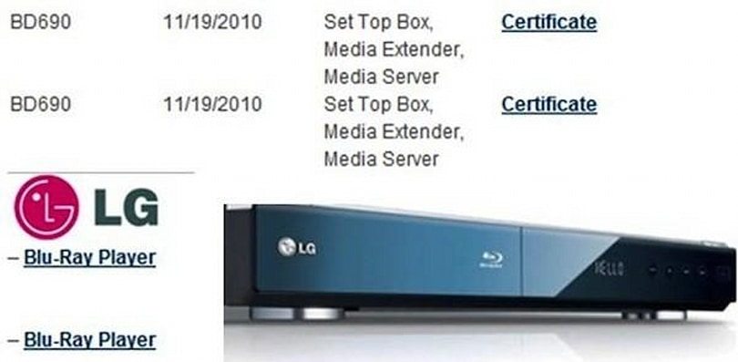 LG BD690 is the first Blu-ray player certified for Wi-Fi Direct, keeps Bluetooth paranoid