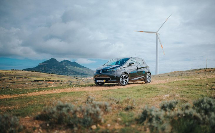Renault's 'smart island' runs on wind power and recycled batteries