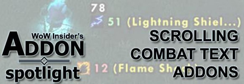 Addon Spotlight: Scrolling combat text addons