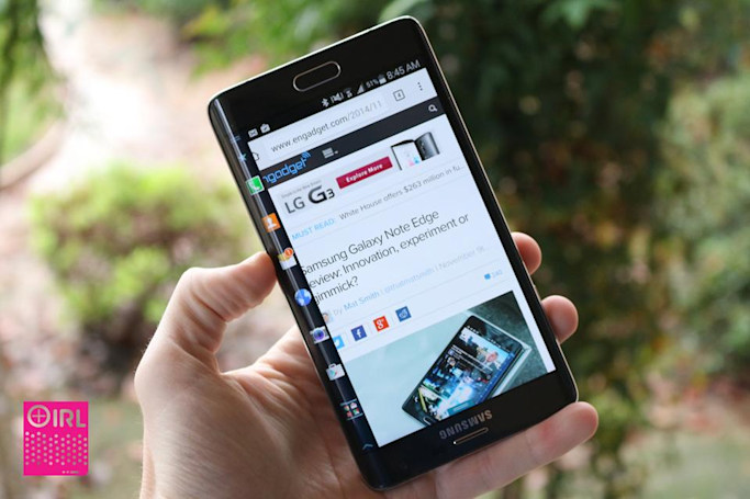 IRL: Samsung's Galaxy Note Edge isn't great for lefties