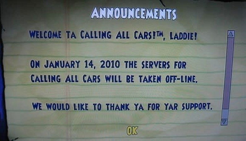 Calling All Cars servers calling it quits in January