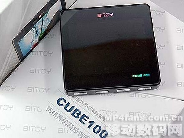 Bitoy Cube100 wants to be the iRiver Clix when it grows up