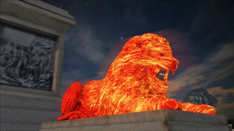 Google's Trafalgar Square lion uses AI to generate crowdsourced poem
