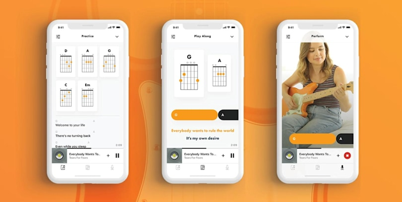Fender Songs is an interactive chord book that syncs with Apple Music
