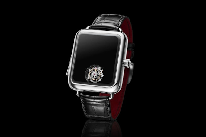 Swiss watchmaker's latest jab at the Apple Watch has no hands