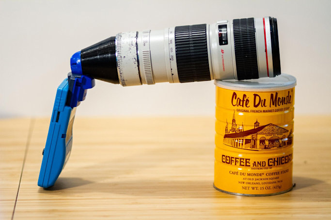 This guy attached a telephoto lens to his Game Boy Camera