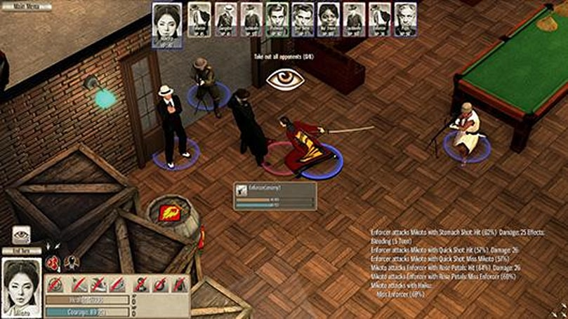 West shoots East, East stabs West in Omerta: The Japanese Incentive