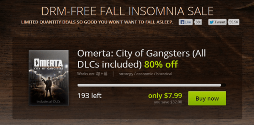 GOG 'Fall Insomnia' sale is a carousel of rotating individual deals