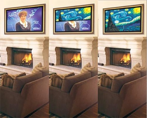 Stewart Filmscreen's Media Dcor covers your flat-panel with art