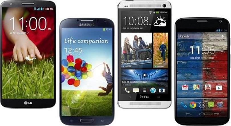 LG G2 vs. the competition: flagship Android smartphones square off