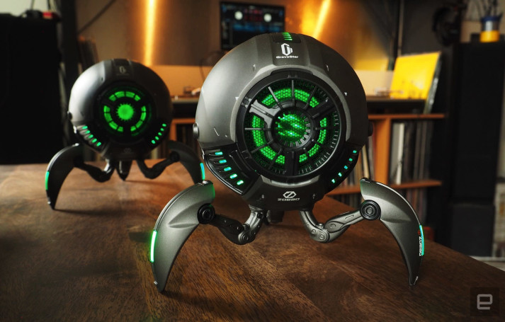 The GravaStar is a Bluetooth speaker with robotic charm